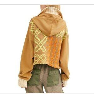 Free people Reno hooded knit jacket